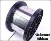 Nichrome heat wire element by the foot